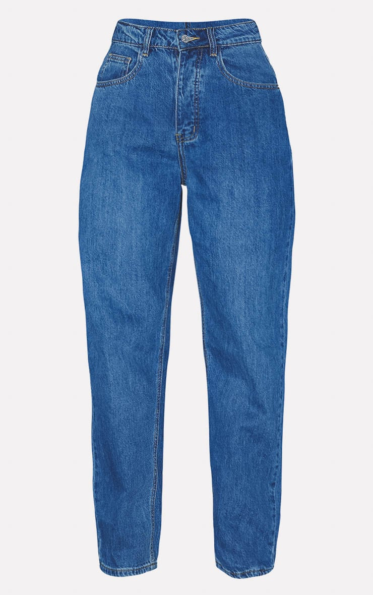 PRETTYLITTLETHING Dark Blue Mom Jean 3