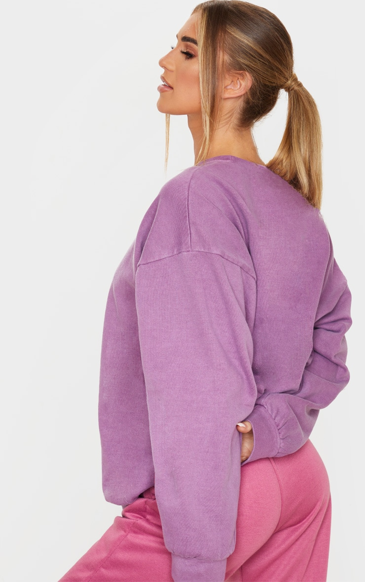Violet Washed Oversized Sweater 2