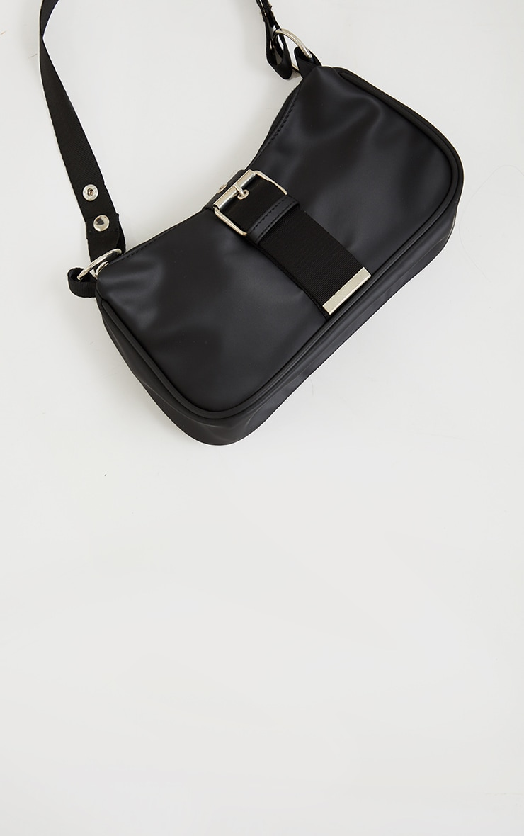 Black Buckle Up Shoulder Bag 4