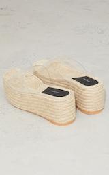 Clear Strap Espadrille Flatform Mules 4
