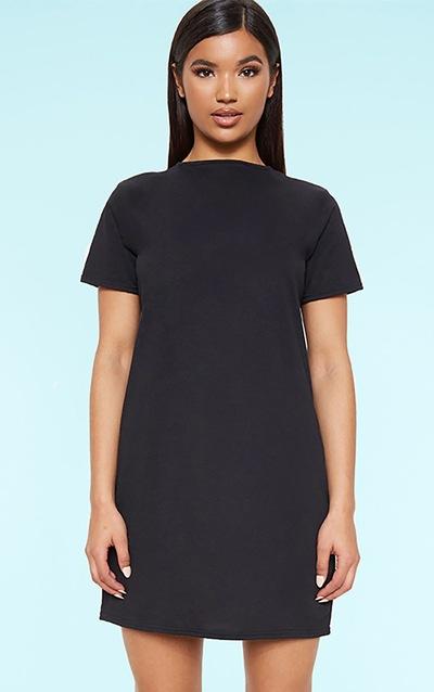 e49104e500a7 RECYCLED Black T Shirt Dress