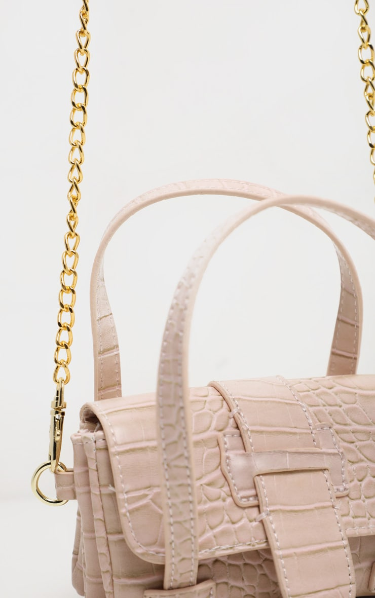 Cream Croc Extra Mini Bag 5