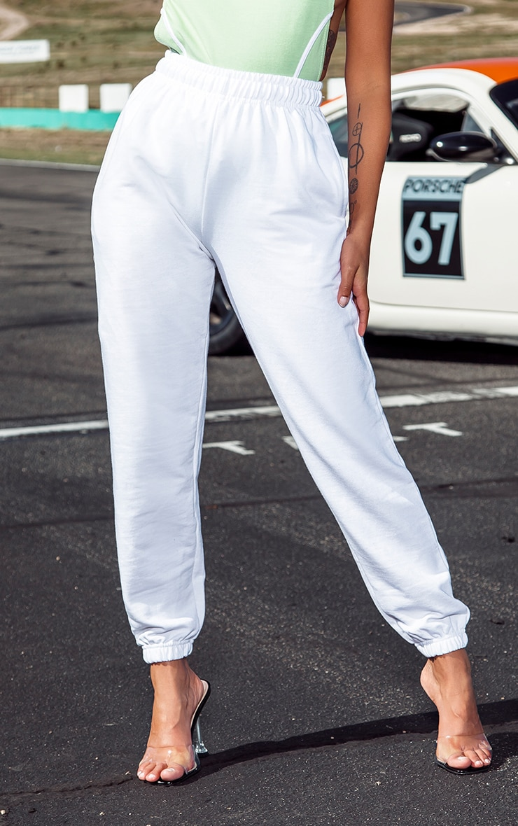 Petite White Casual Track Pants 2