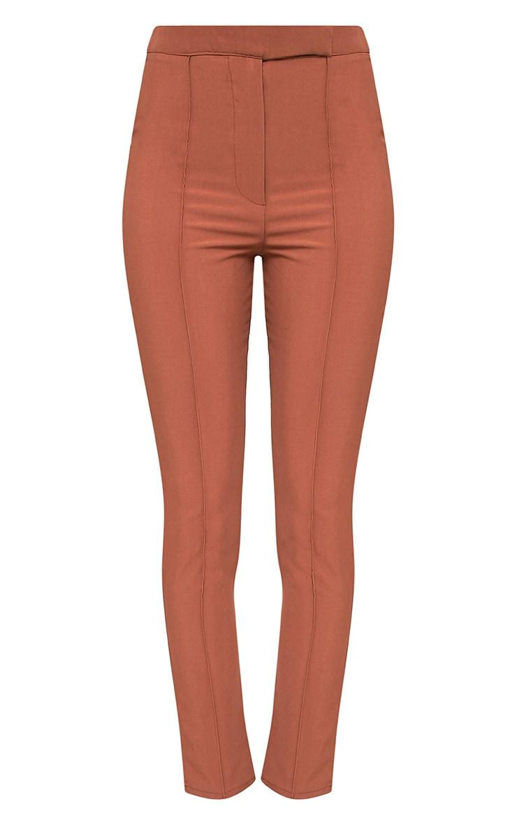 Symone Tan Skinny Cigarette Trousers 3