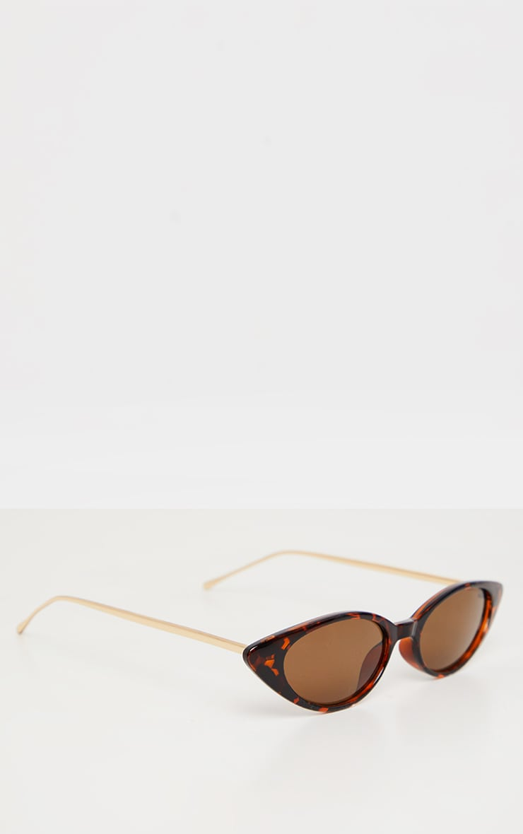 Brown Tortoiseshell Cat Eye Retro Frame Sunglasses 3