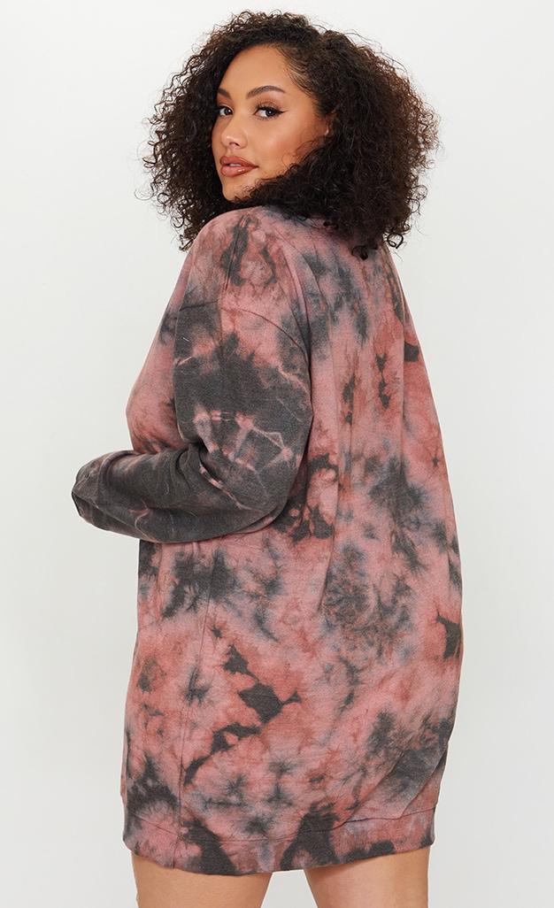 Plus Mauve Tie Dye Sweater Dress 2
