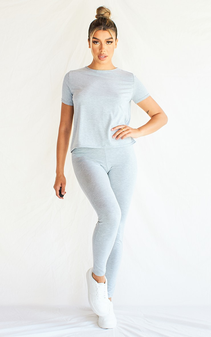 Grey T-Shirt & Legging Set 1