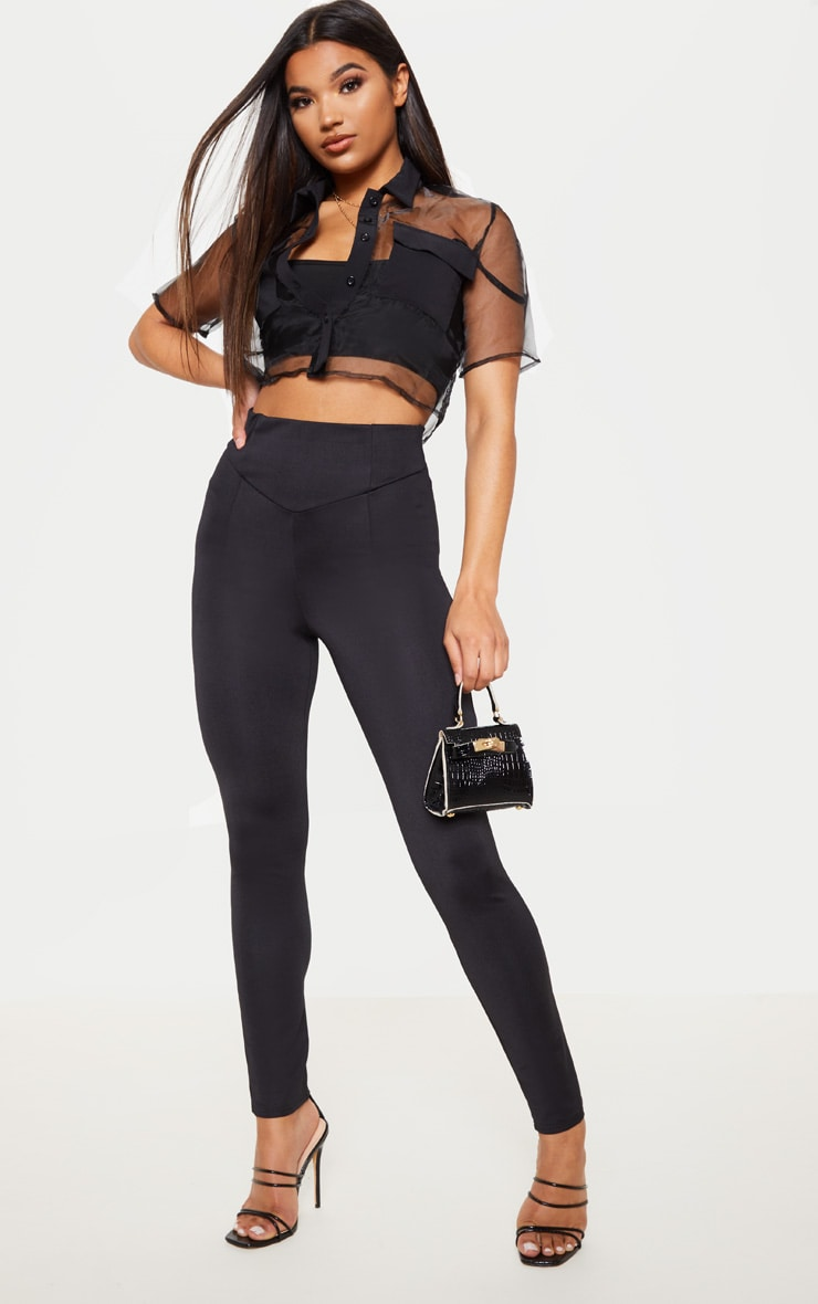 Black Body Shaping High Waist Legging 1