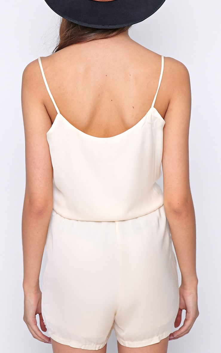 Jodie Champagne Silk Feel Wrap Playsuit  2