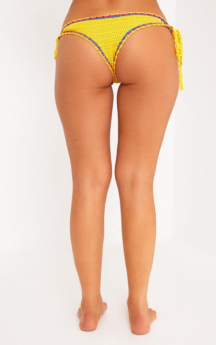 Yellow Crochet Bikini Bottoms 4