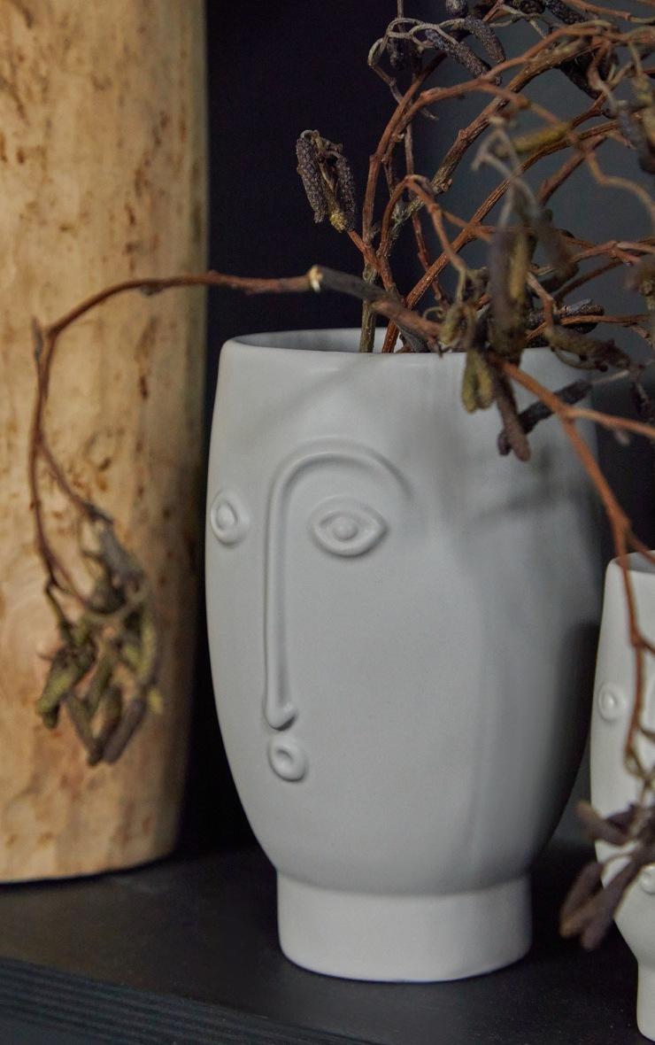 Grey Face Vase 5