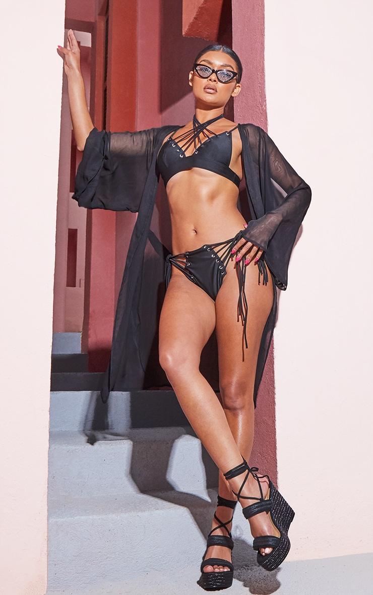 Black Wide Sleeved Kimono 4