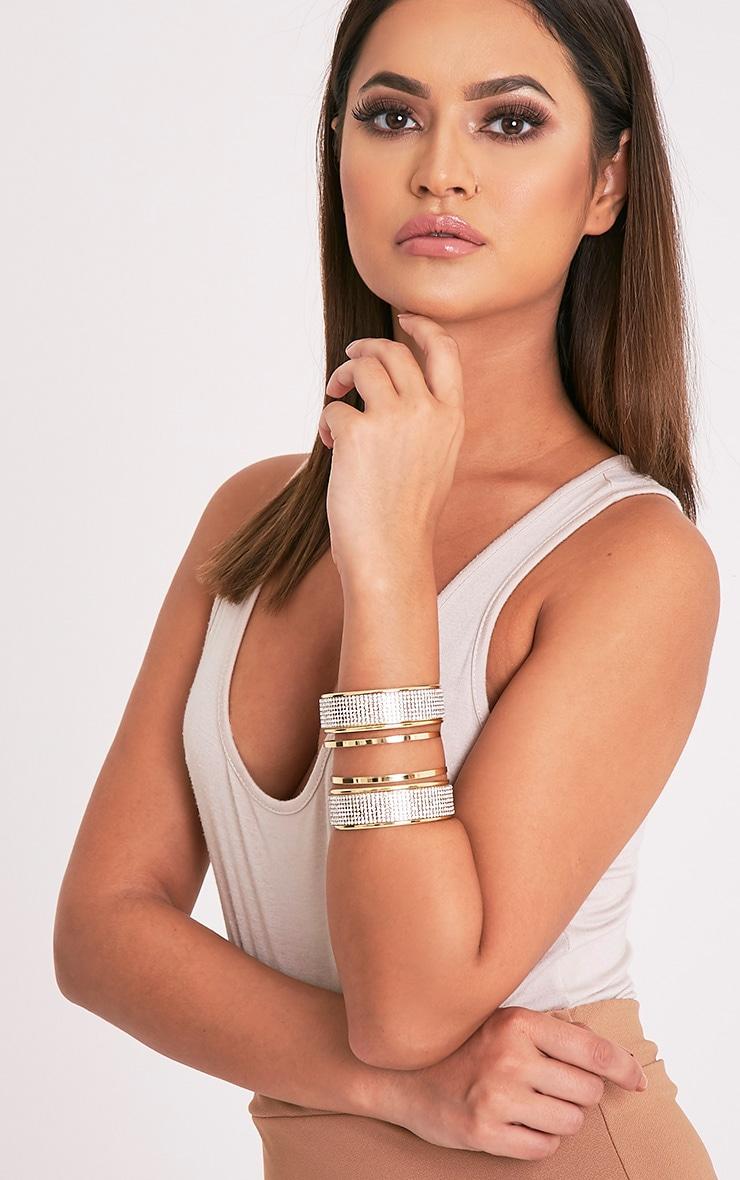 Gabi Gold Glitter Detail Bangle 3