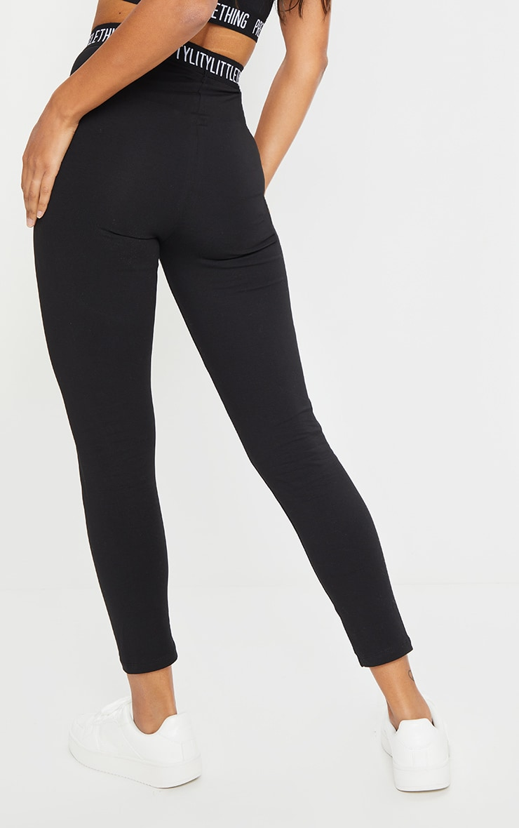 PRETTYLITTLETHING Black High Waisted Legging 3