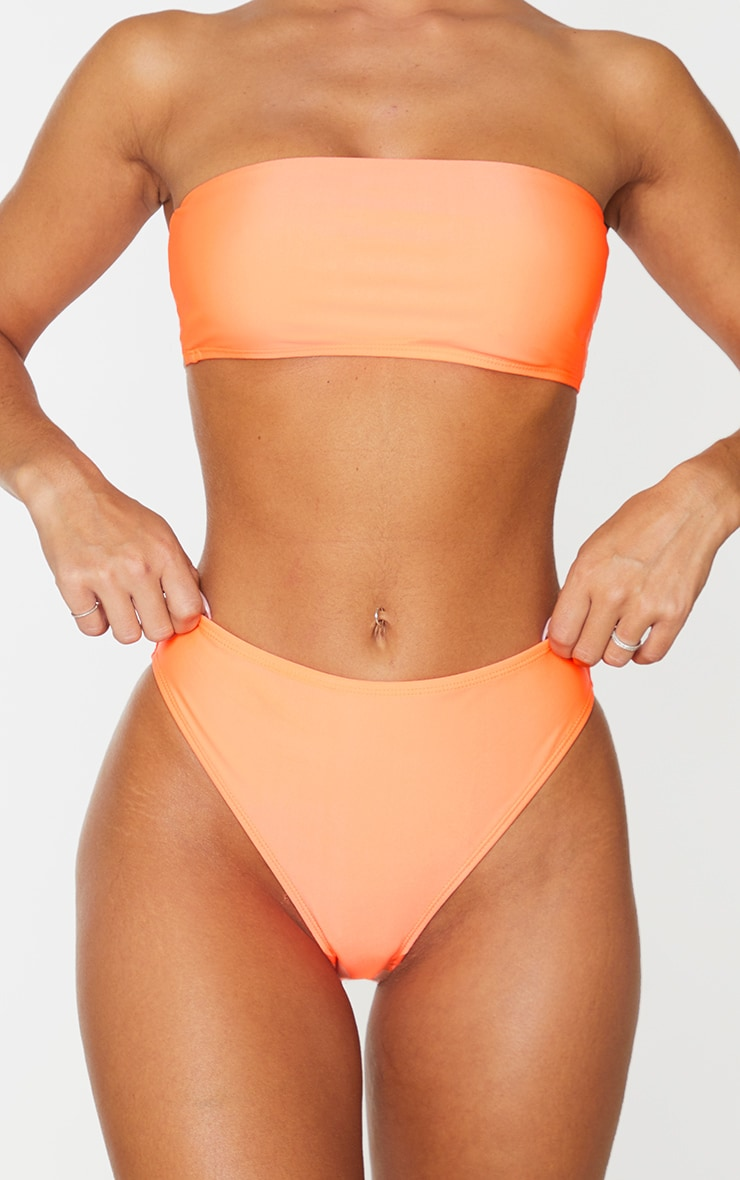 Coral Mix & Match Cheeky Bum Bikini Bottom 1