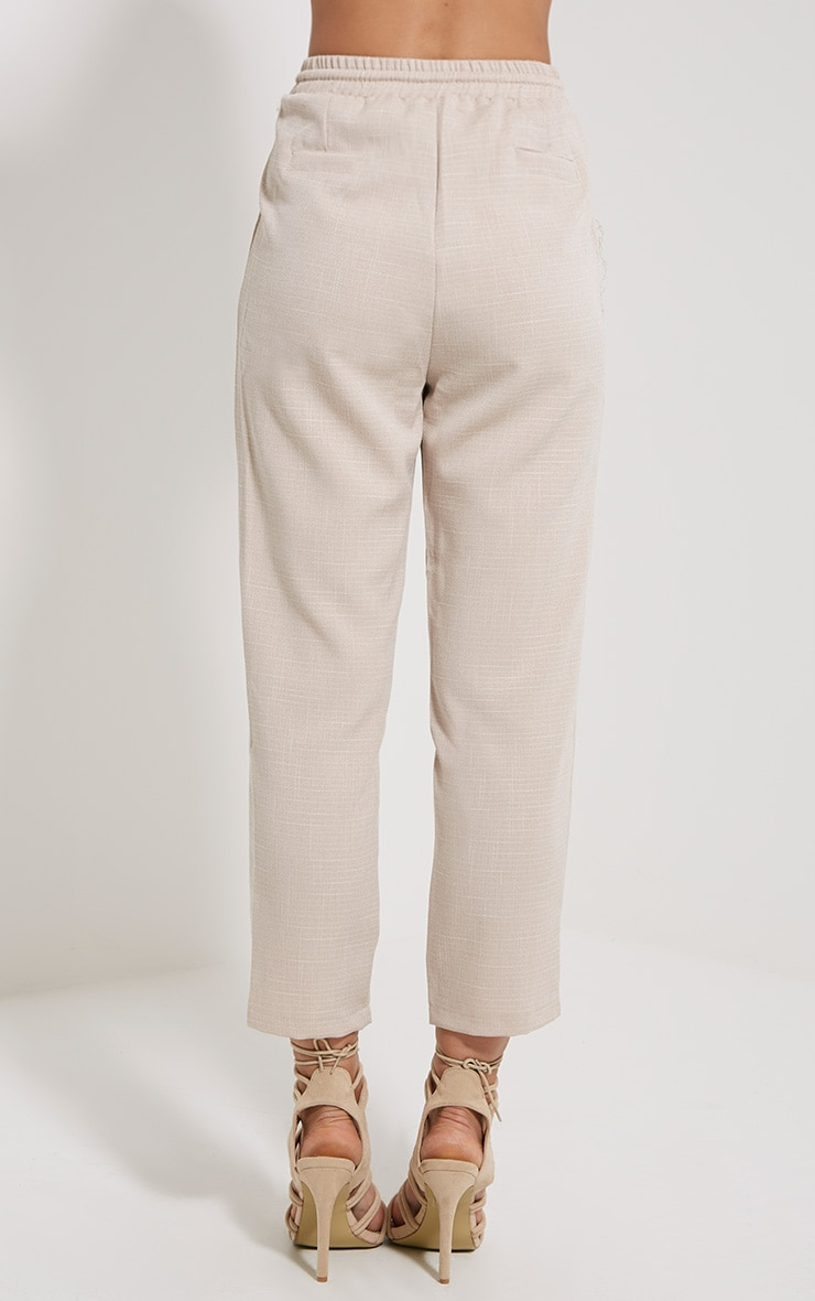 Petite Diya Stone Cropped Trousers 4