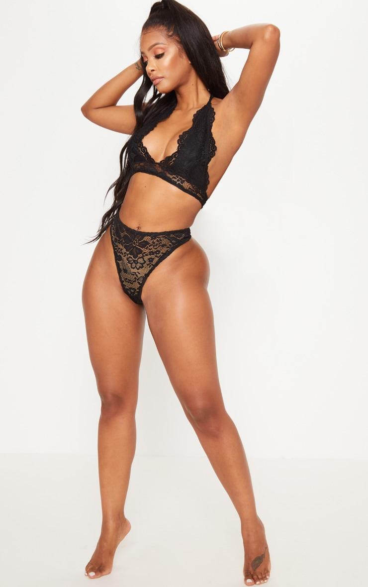Shape Black Lace Thong 4