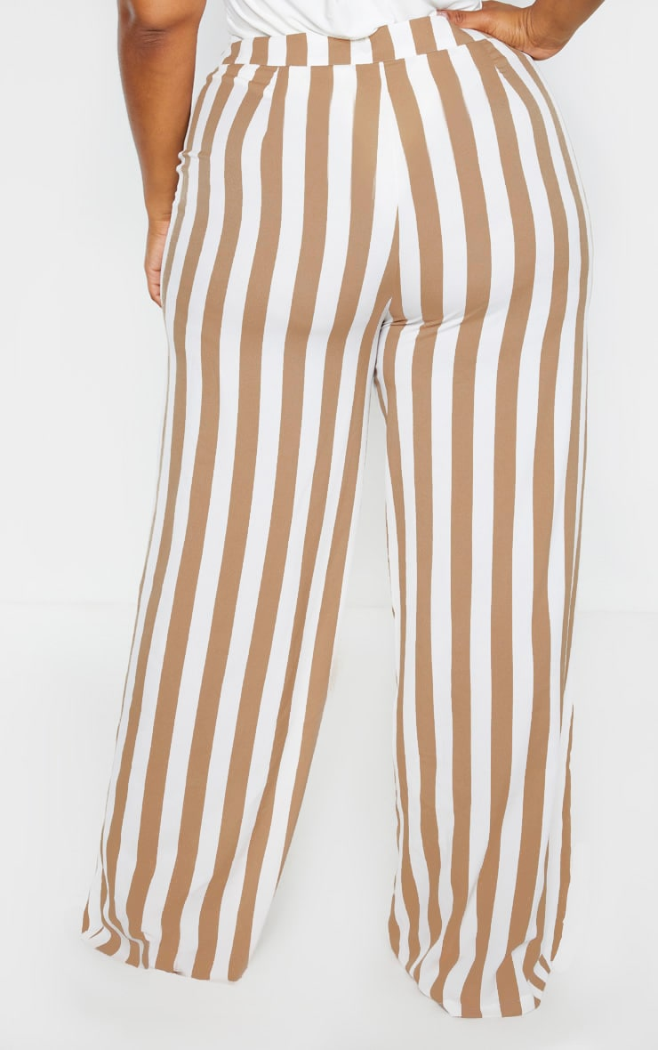 Plus Stone Striped Wide Leg Pants  2