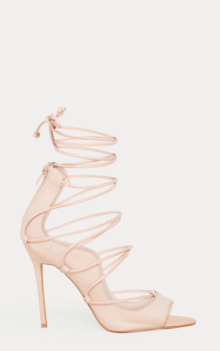 Nude Ankle Lace Up Heel 3