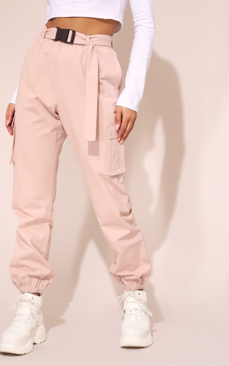 Nude Utility Buckle Belt Track Pants 3