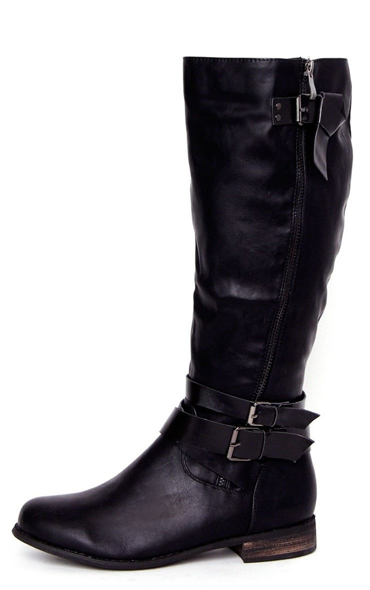 Jasmin Black Knee Length Boots 1