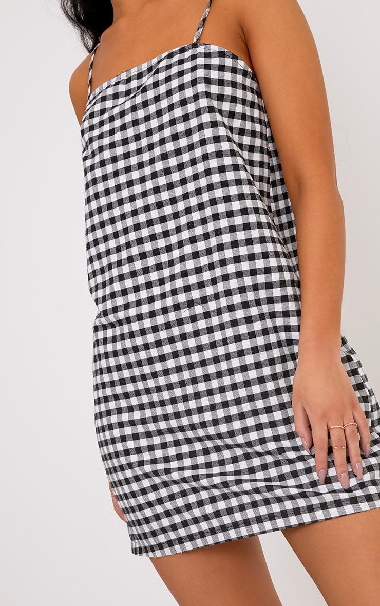 Raye Black Gingham Woven Shift Dress 5