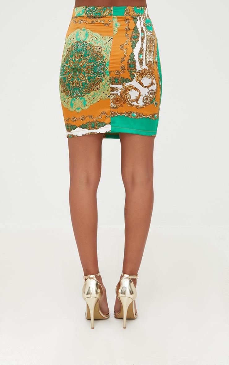 Petite Orange Scarf Print  Skirt Co-ord 4