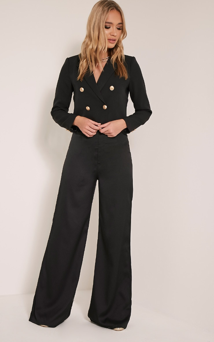 Dionne Black Cropped Military Style Blazer 5