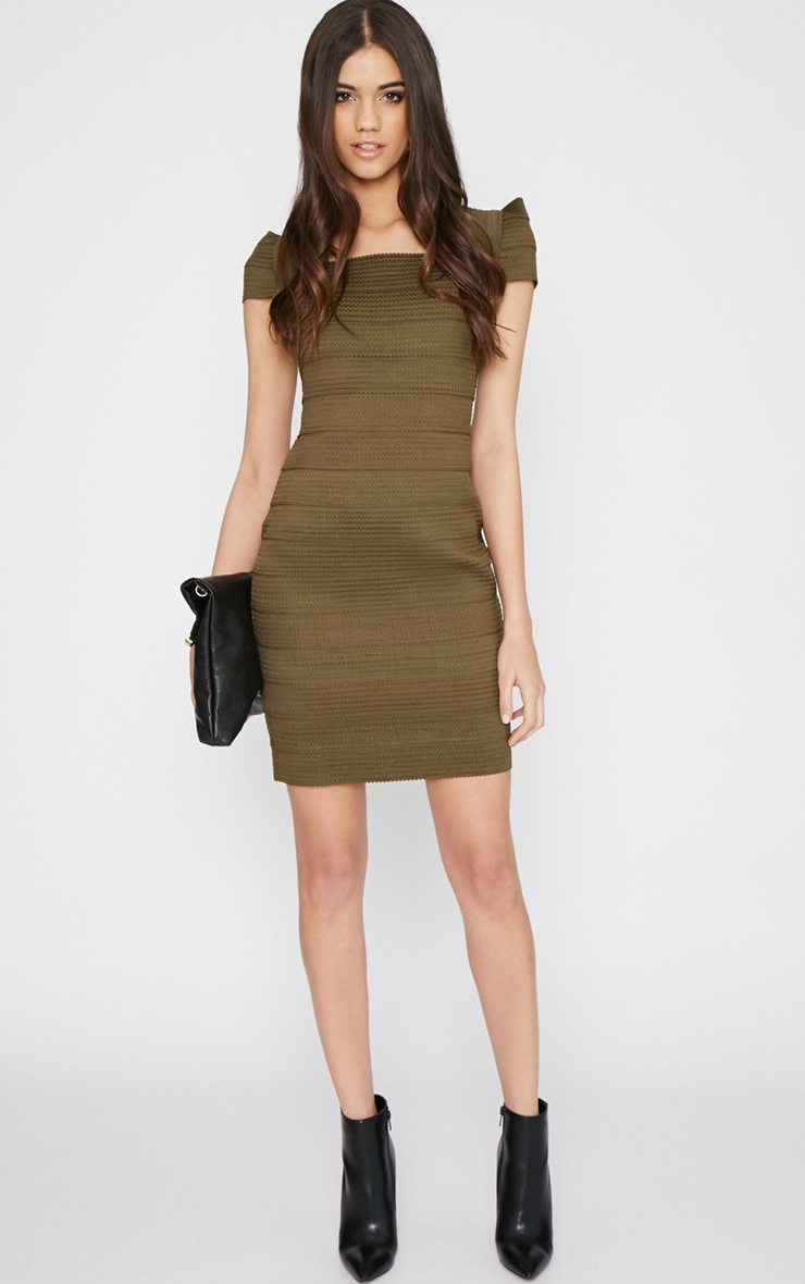 Taura Khaki Bandage Dress 4