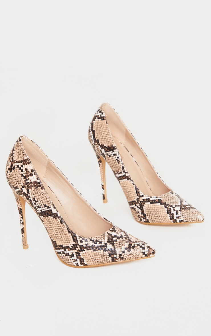 Brown Snake Court Shoe 3