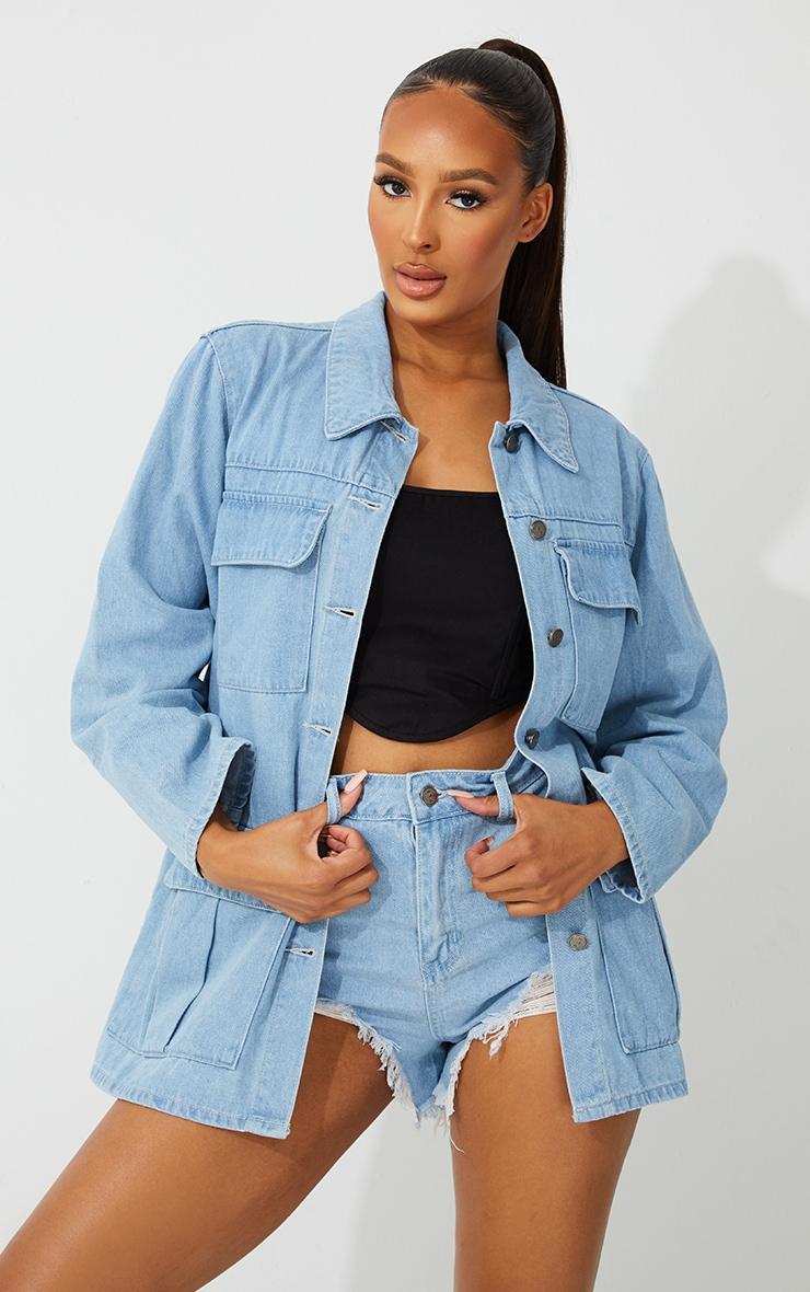 Light Blue Wash Denim Jacket 1