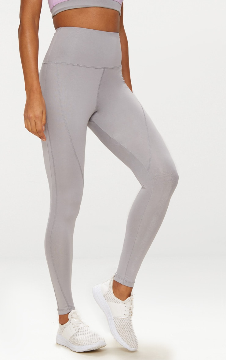 Grey High Waisted Sports Leggings 2