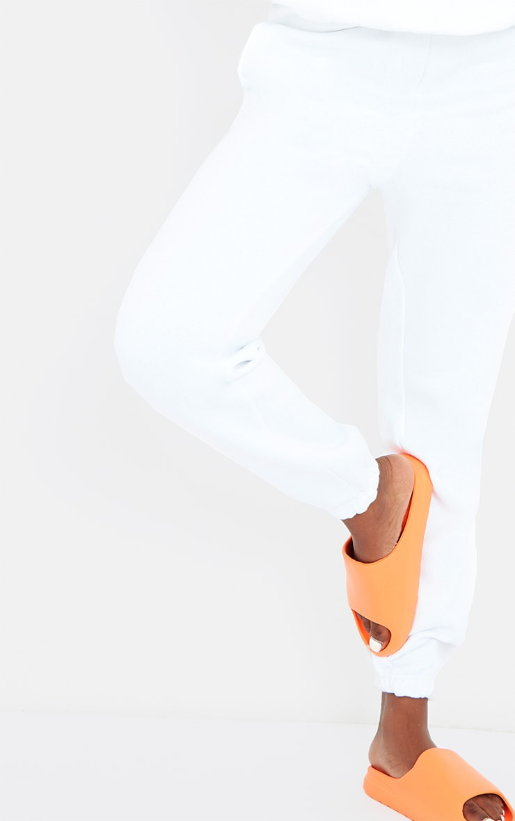 Tall White Casual Cuff Joggers 4