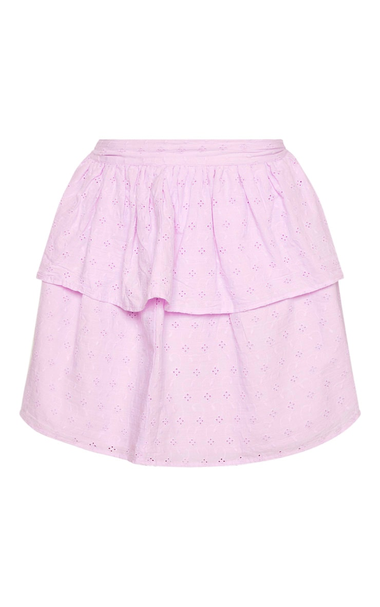 Petite Lilac  Frill Tiered Broderie Anglaise Skirt 3