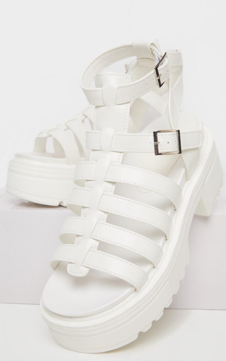 White Gladiator Chunky Sandal 3