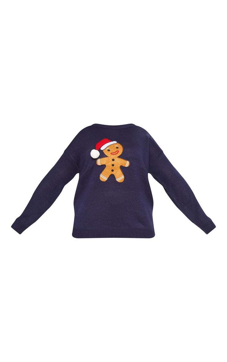 Plus Navy Gingerbread Man Jumper 3