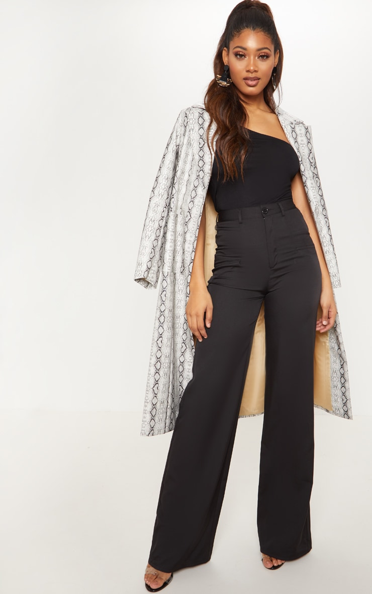 Tall - Pantalon ample noir à poches 1