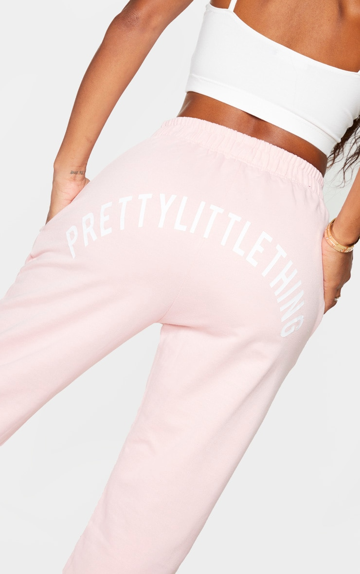 PRETTYLITTLETHING Shape Baby Pink Printed Bum Joggers 4