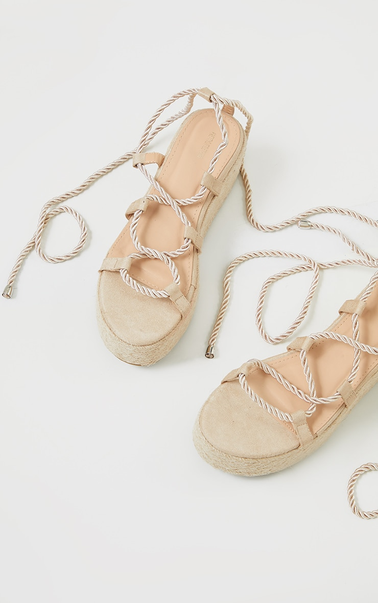 Natural Rope Flatform Sandals 3