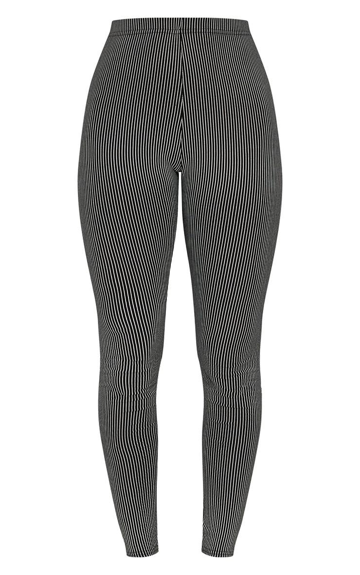 Black Pinstripe Leggings 3