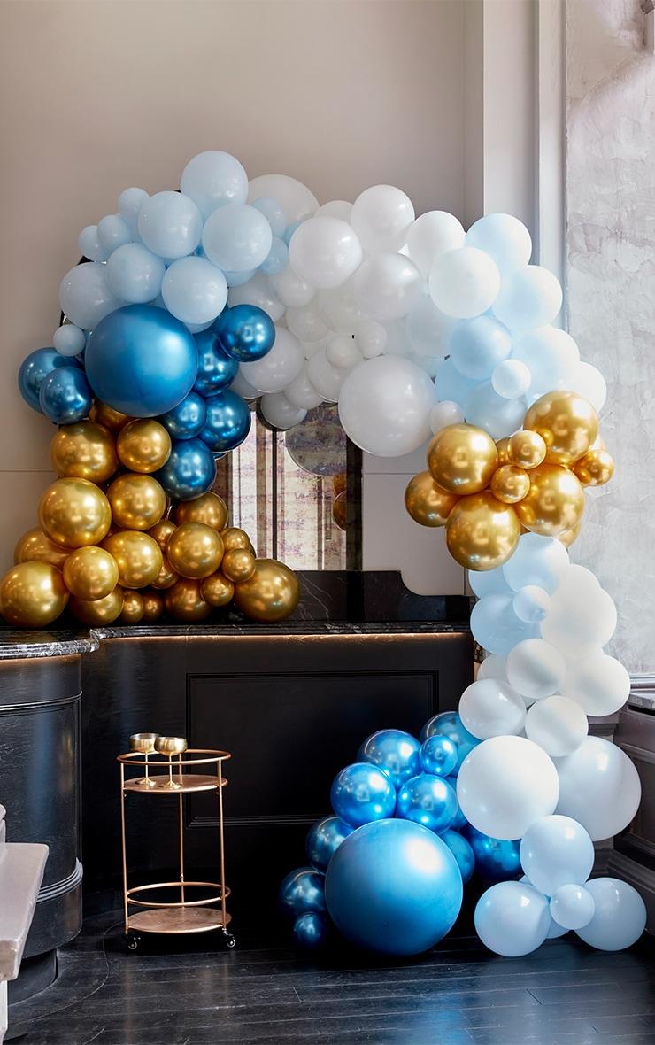 Ginger Ray - Arche de ballons bleus et dorés 1