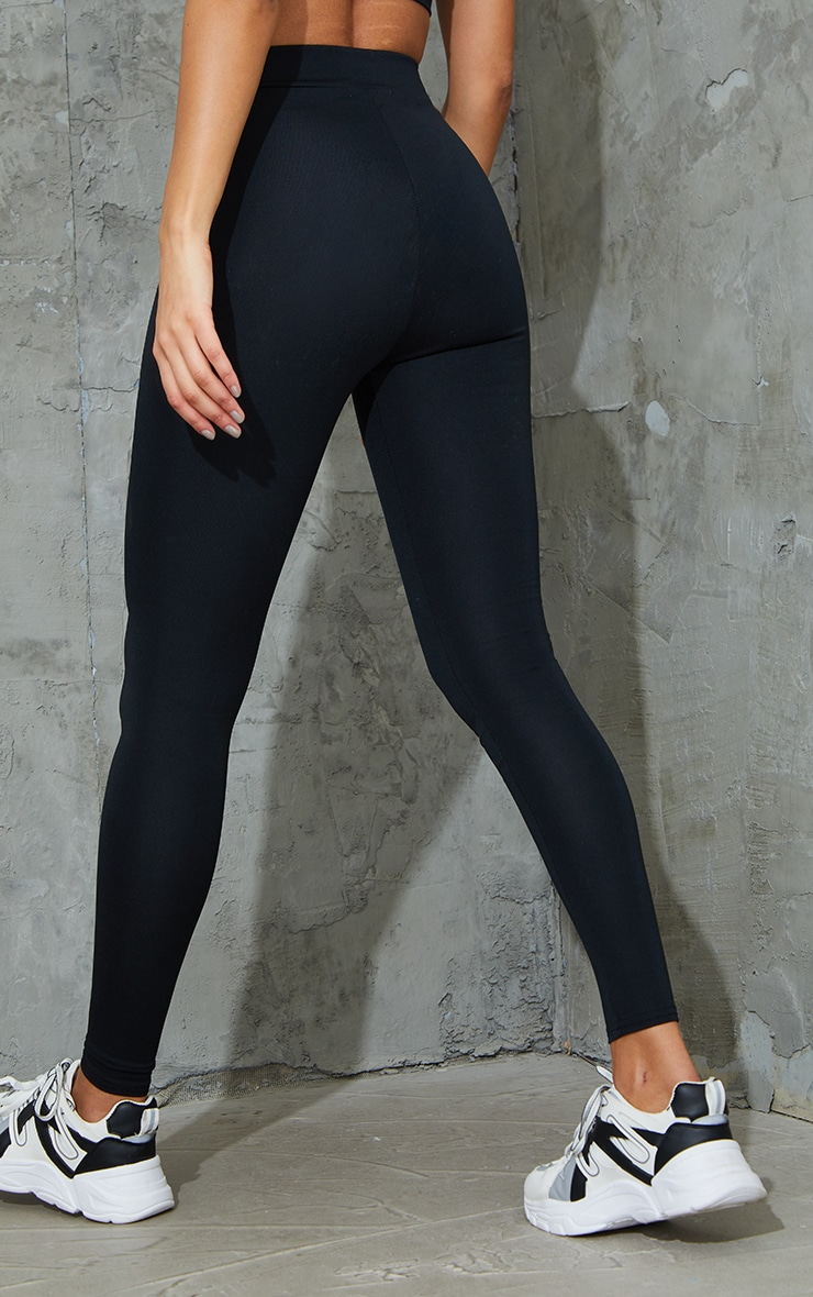 Black Tie Front Super High Waist Sports Leggings 3