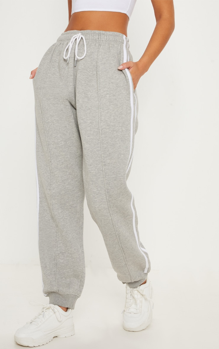 Grey Double Side Stripe Jogger 2