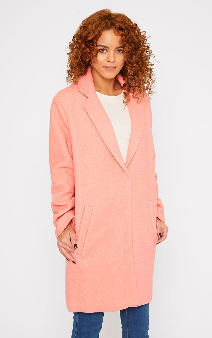 Tammy Coral Wool Coat 3