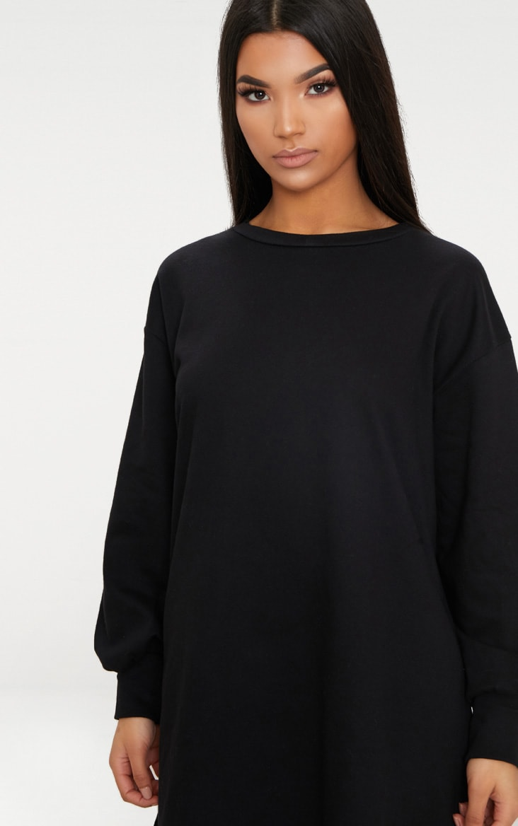 Black Oversized Sweater Dress 6