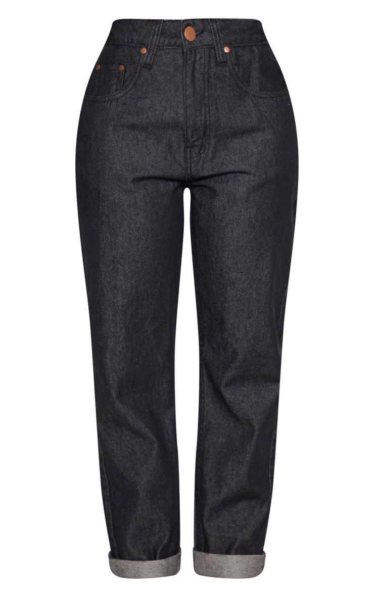 Shape Washed Black Mom Jeans 3