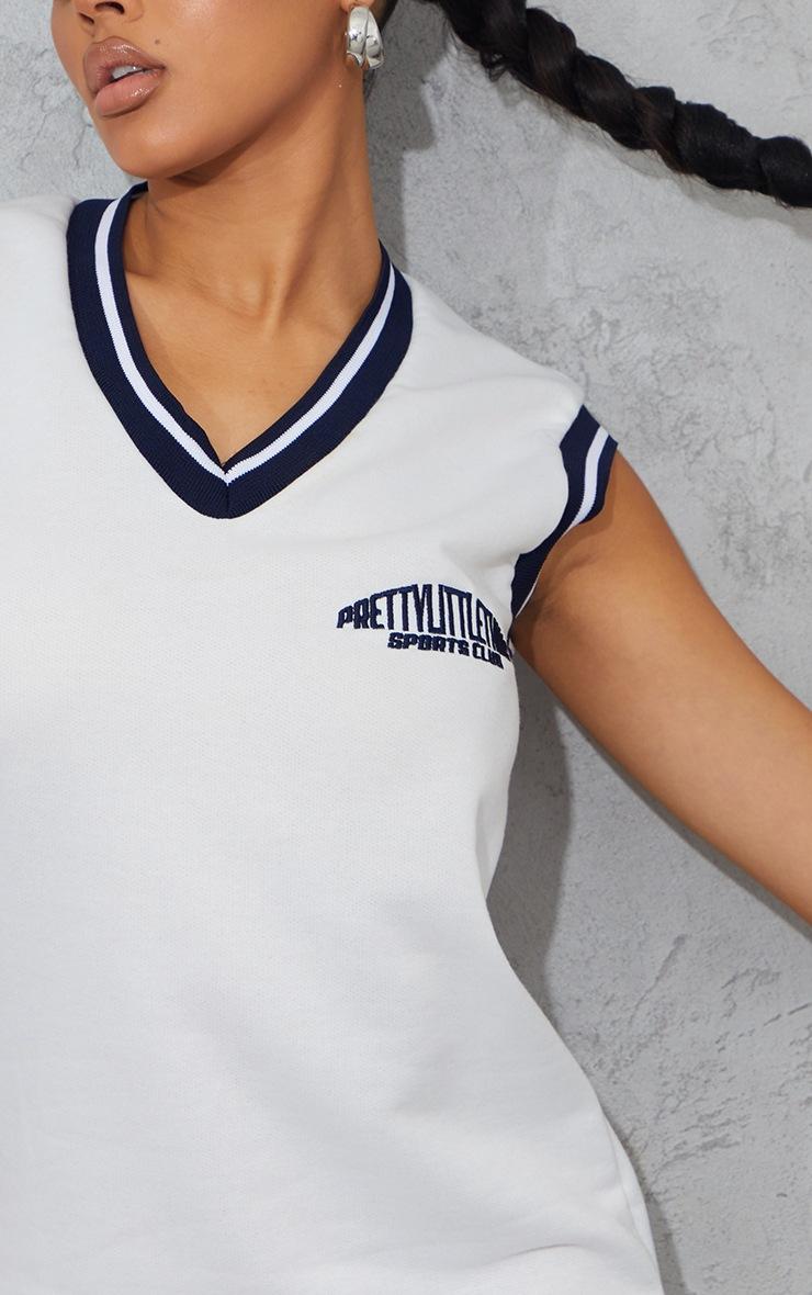 PRETTYLITTLETHING White Sleeveless Sweater Vest Jumper Dress 4