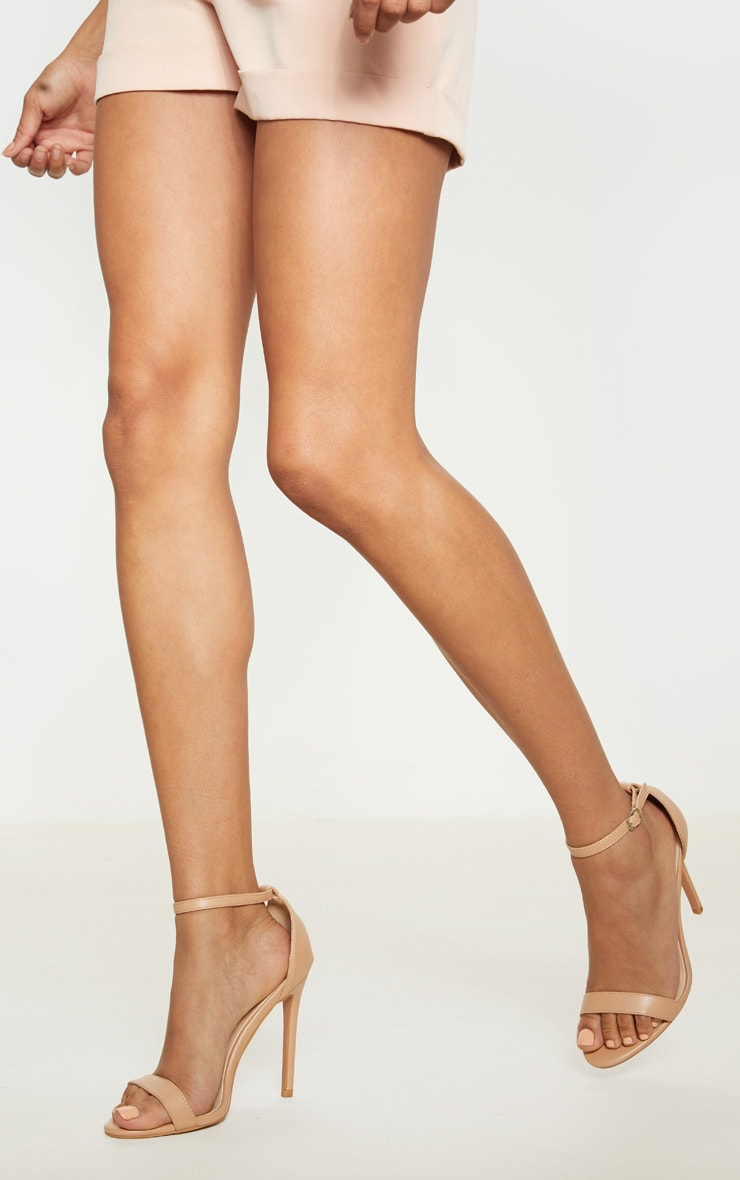 Dark Nude Clover Strap Heeled Sandal 1
