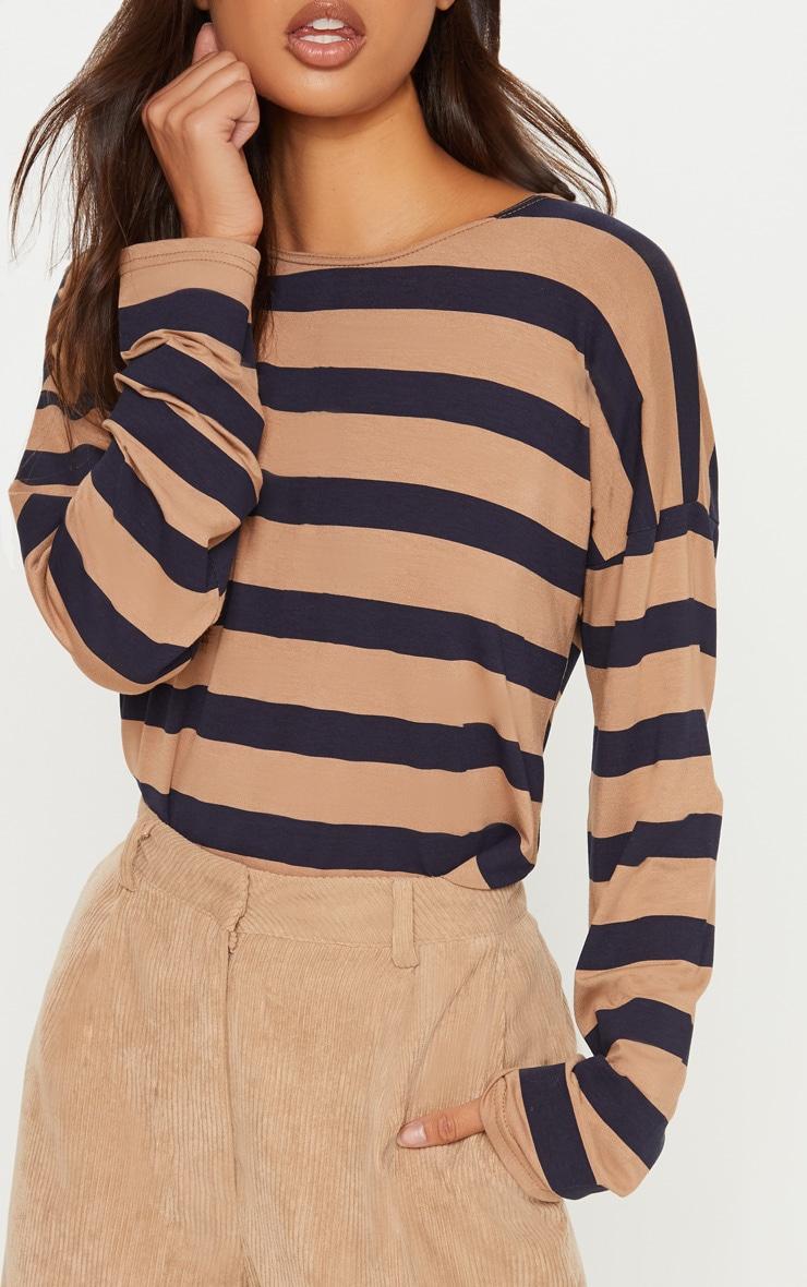 Tan Stripe Long Sleeve Top 5