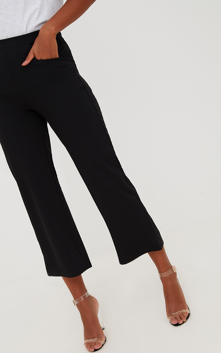 Pantalon large noir court 5